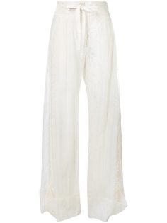 брюки Mildred с вышивкой Ann Demeulemeester