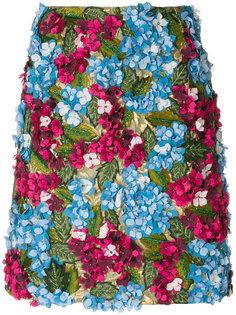 юбка с вышивкой Hydrangea Dolce & Gabbana