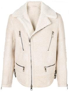 байкерская куртка из овчины Neil Barrett
