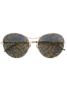 солнцезащитные очки с цветочным принтом Pomellato