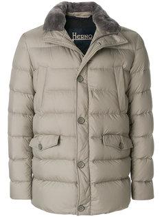 пальто-пуховик на пуговицах Herno