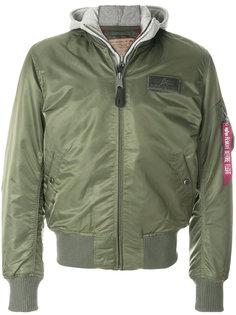куртка бомбер с карманом Alpha Industries