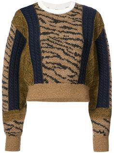 свитер с тигровым узором Toga