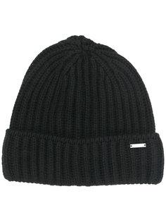 ребристая вязаная шапка Woolrich