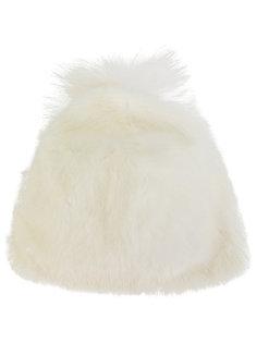 меховая шапка с помпоном Liska
