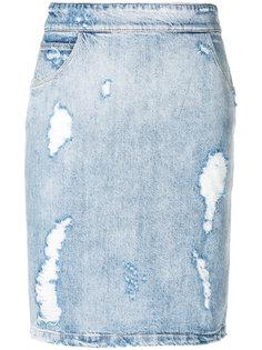 джинсовая юбка с рваными деталями Iro