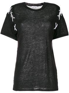 объемная футболка со шнуровкой на плечах Iro