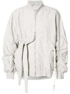 куртка-бомбер со сборками и завязками Damir Doma