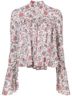 блузка с цветочным узором Caroline Constas