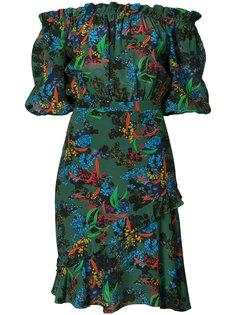 платье с открытыми плечами bonsai  Saloni