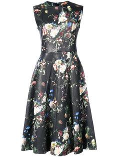 расклешенное платье  с цветочным принтом Adam Lippes