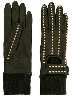 перчатки с заклепками Moschino