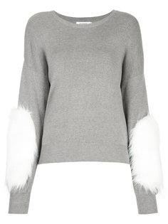 свитер с нашивками из искусственного меха Guild Prime
