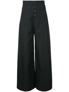 широкие брюки с завышенной талией  Le Ciel Bleu