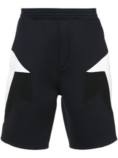 спортивные шорты с панельным дизайном  Neil Barrett