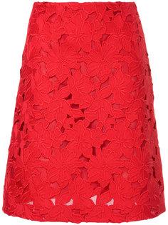 юбка из цветочного макраме Giambattista Valli