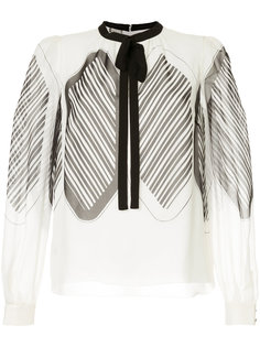 блузка с завязкой на шее Giambattista Valli