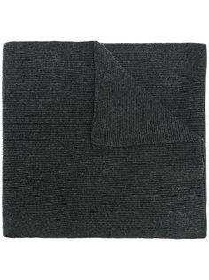 широкий шарф в рубчик N.Peal