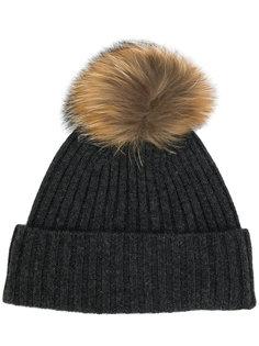 шапка в рубчик с помпоном N.Peal