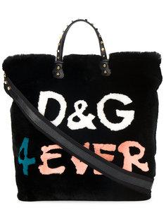 сумка-шоппер D&G 4ever с кроличьим мехом Dolce & Gabbana
