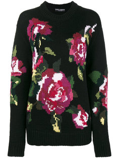 свитер вязки интарсия  Dolce & Gabbana