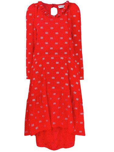 платье 'Hybrid' с V-образным вырезом Balenciaga