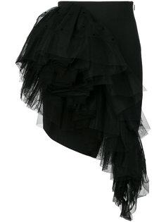 асимметричная юбка мини Saint Laurent