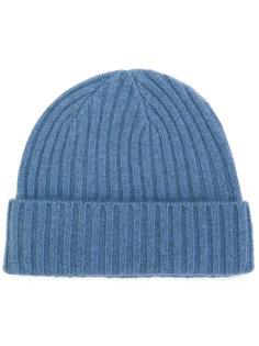 шапка крупной вязки в рубчик  N.Peal