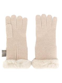 перчатки с меховой подкладкой N.Peal