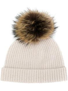 шапка со съемным помпоном N.Peal