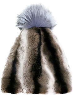 полосатая шапка с помпоном N.Peal