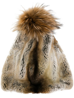 меховая шапка с помпоном N.Peal