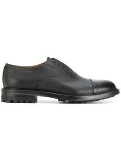 туфли оксфорды с контрастным носком Doucals