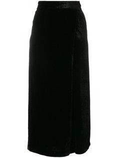 укороченные бархатные брюки Pt01