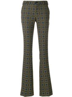 брюки с завышенной талией и принтом  Pt01