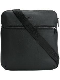 сумка-почтальонка с монограммой Armani Jeans