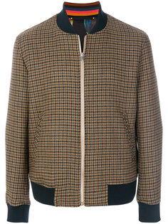 куртка-бомбер с узором в ломаную клетку Paul Smith