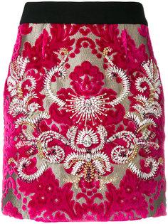 декорированная юбка Fausto Puglisi