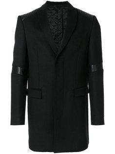 классическое пальто с рельефными панелями Les Hommes Urban