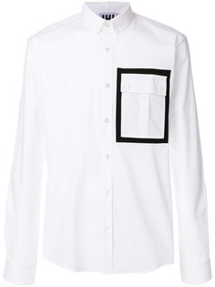 рубашка с контрастным карманом Les Hommes Urban
