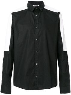 рубашка с контрастными панелями Les Hommes Urban