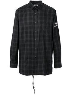 удлиненная рубашка в клетку Les Hommes Urban