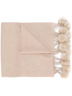 шарф с меховыми помпонами N.Peal
