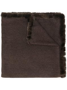 шарф с меховой отделкой N.Peal