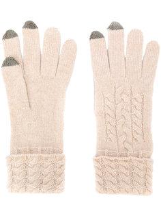 вязаные перчатки N.Peal