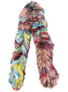 длинный пушистый шарф Missoni