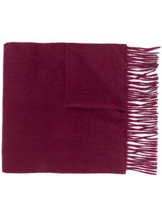 кашемировый шарф с бахромой N.Peal