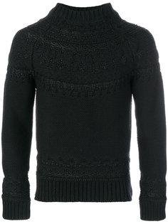 свитер с простроченной отделкой Alexander McQueen