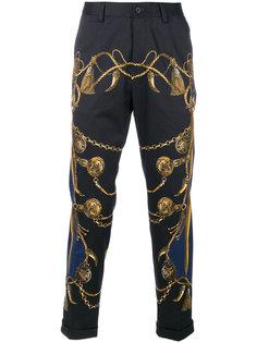 укороченные брюки с принтом в стиле милитари Dolce & Gabbana