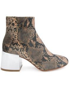 ботинки с эффектом змеиной кожи Mm6 Maison Margiela